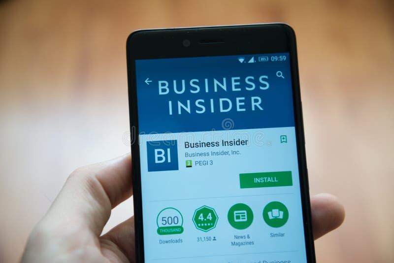 Application d'initié d'affaires dans le magasin de jeu de Google image libre de droits