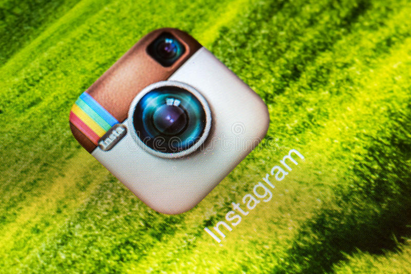 Application d'Instagram photos stock