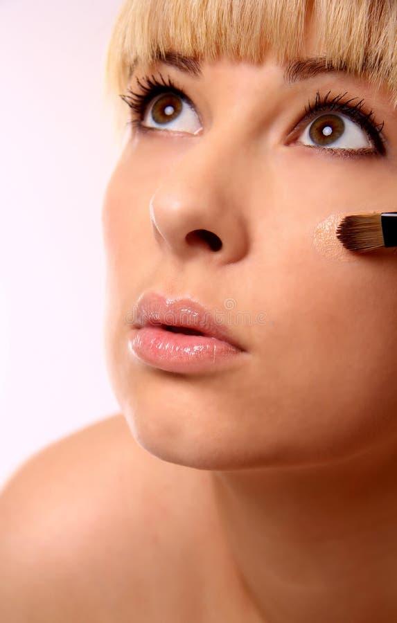 Application de maquillage image stock