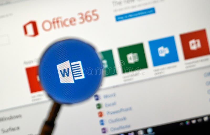 Application de Microsoft Office image stock