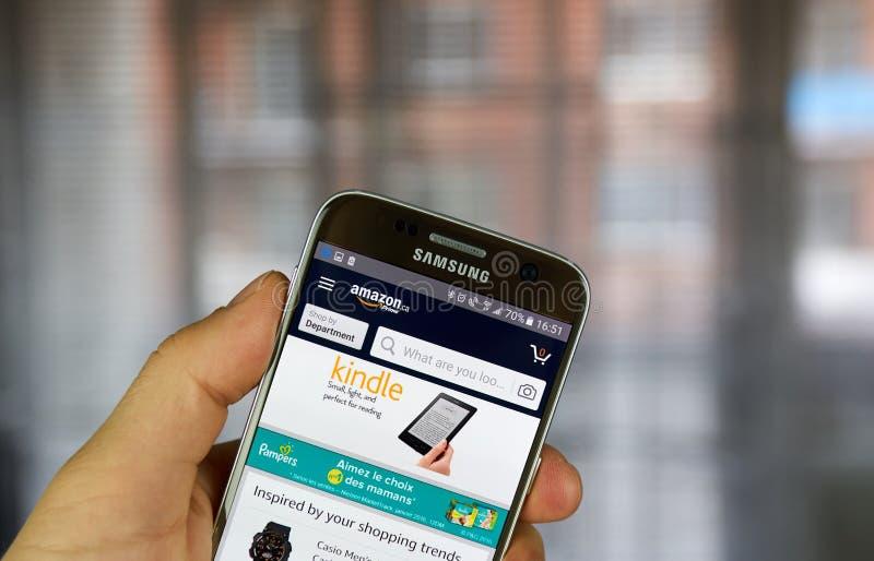 Application de mobile d'Amazone photos libres de droits