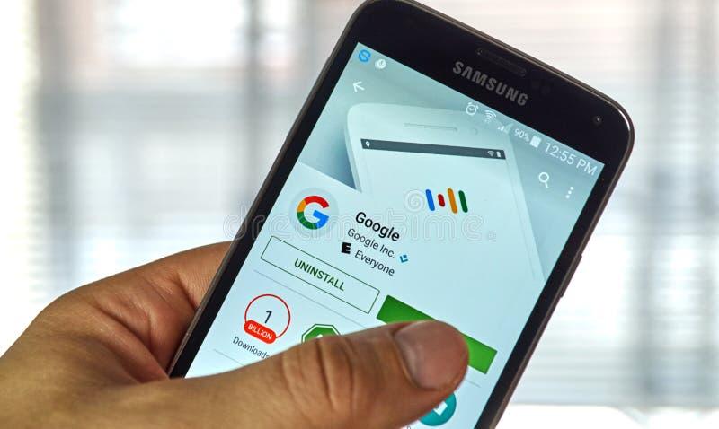 Application de mobile de Google photos libres de droits