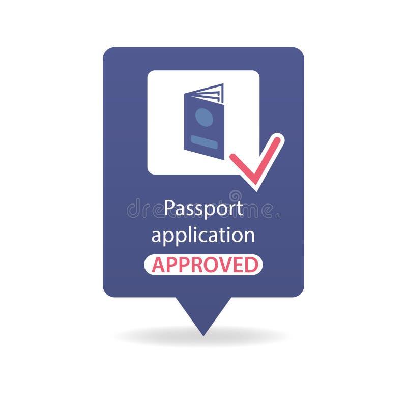 Application de passeport approuvée photographie stock