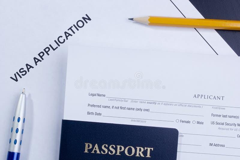 Application de visa photo libre de droits