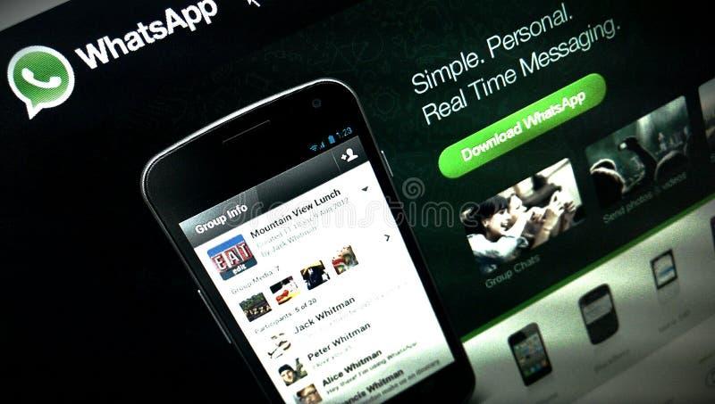 Application de WhatsApp image stock