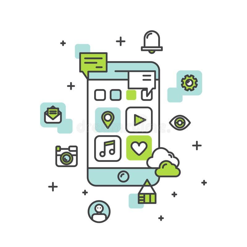 Application Development Process stock illustration