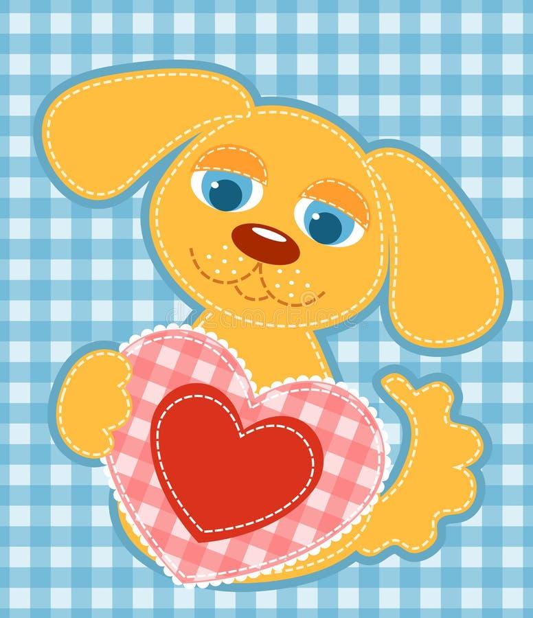 Application dog. vector illustration