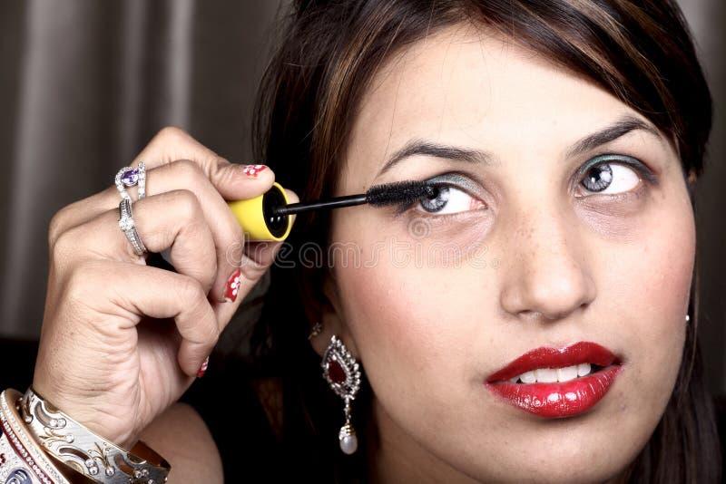 Application du mascara image libre de droits