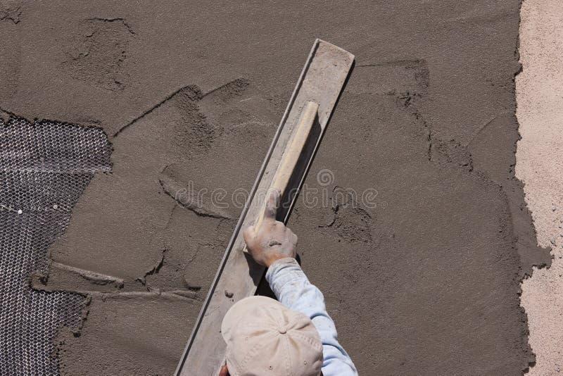 Application du stuc photo libre de droits