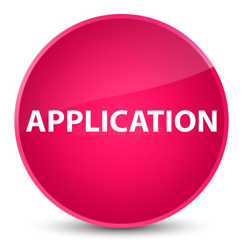 Application elegant pink round button royalty free illustration