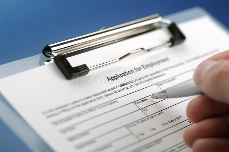 Download Application for employment stock image. Image of employment - 16491411