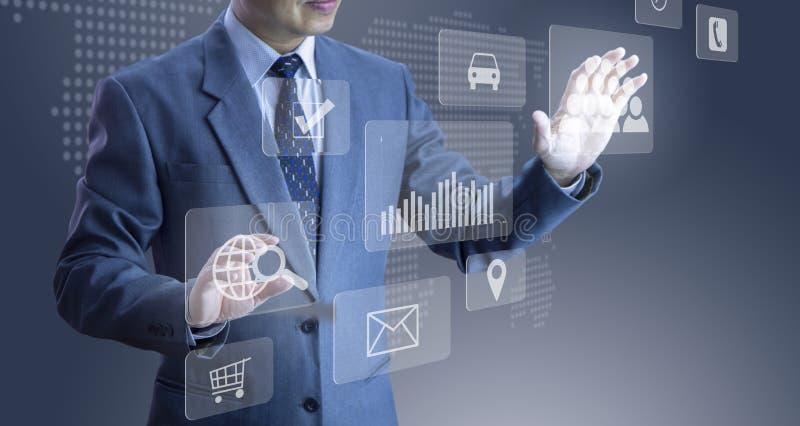 Application et technologie modernes illustration libre de droits