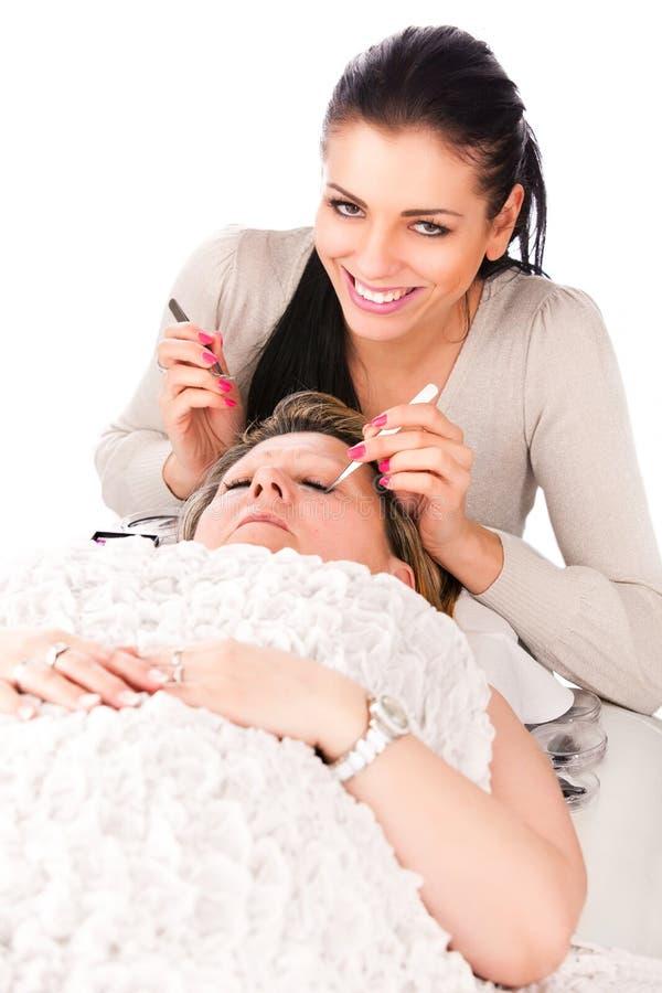 Application Of False Eyelashes Stock Photo