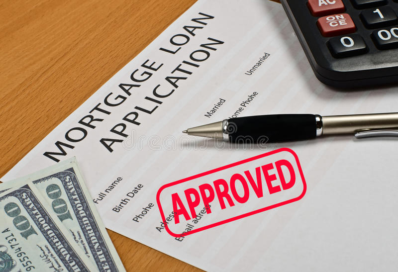 The application form for a mortgage loan stock photos