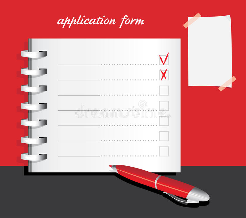 Application form template royalty free stock photos