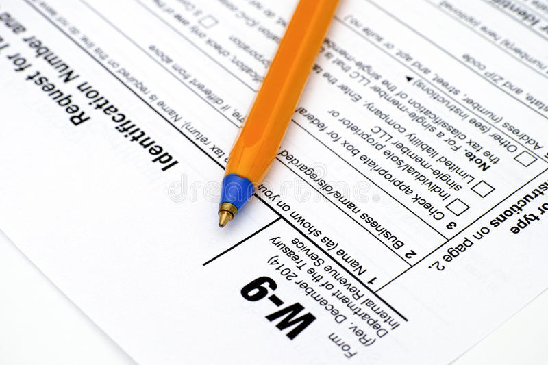 Application Form W9 With Pen Editorial Stock Image - Image of april ...