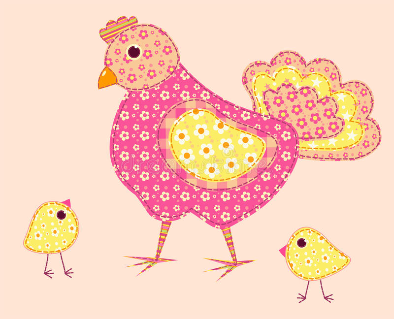 Download Application Hen And Chickens. Stock Vector - Image: 23055435
