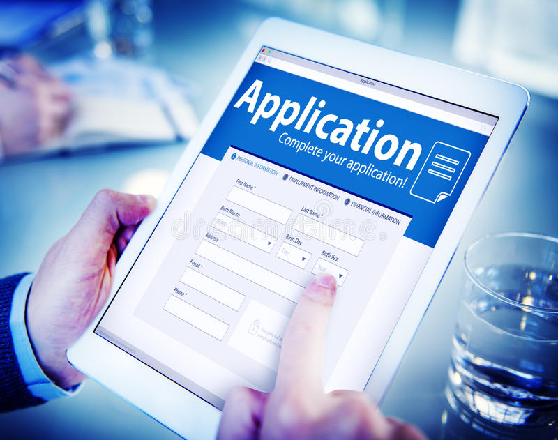 Application Human Resources Hiring Recruitment Employment Concept royalty free stock photography