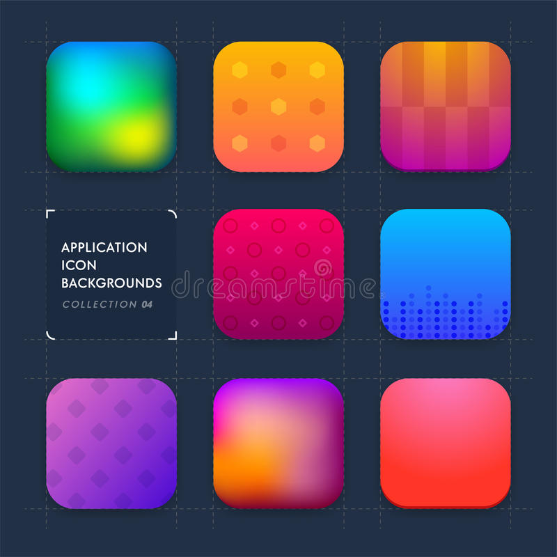 Application icon backgrounds. Set 04 stock illustration