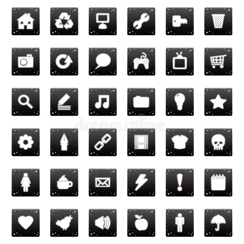 Download Application icons stock vector. Image of letter, portfolio - 18270335