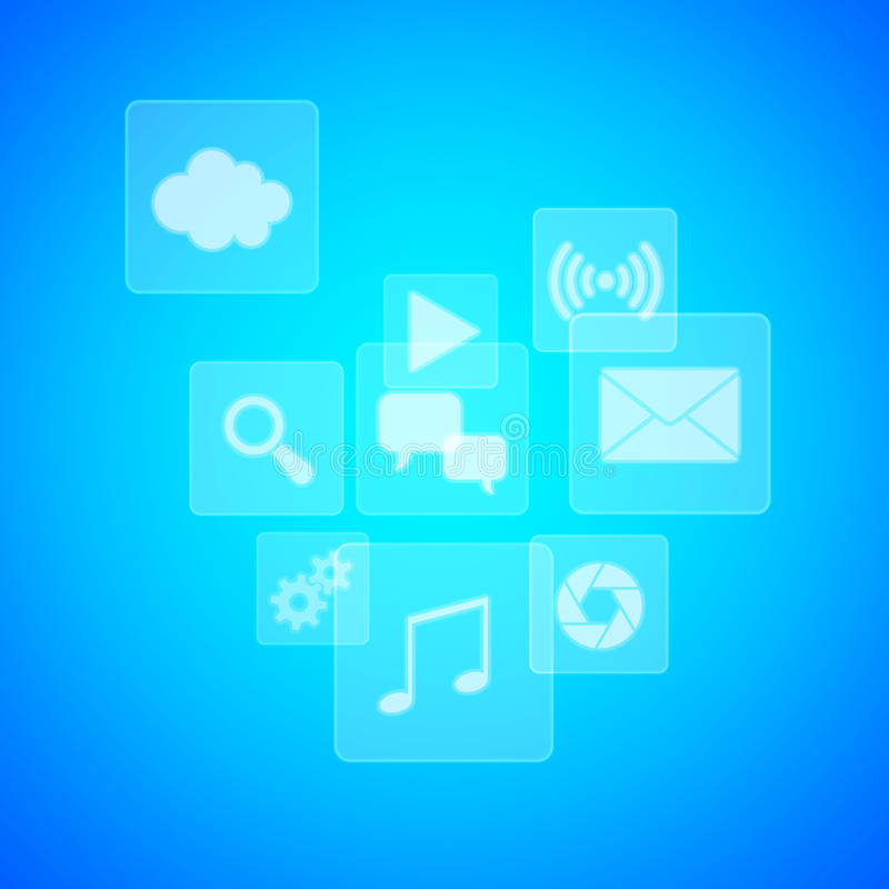 Download Application icons stock illustration. Image of push, blue - 34609590