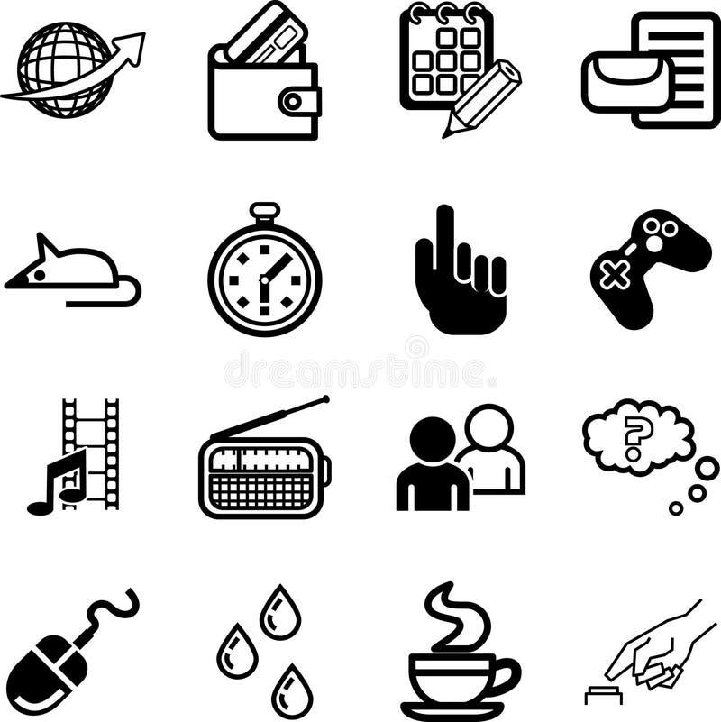 Application informatique et medias illustration de vecteur