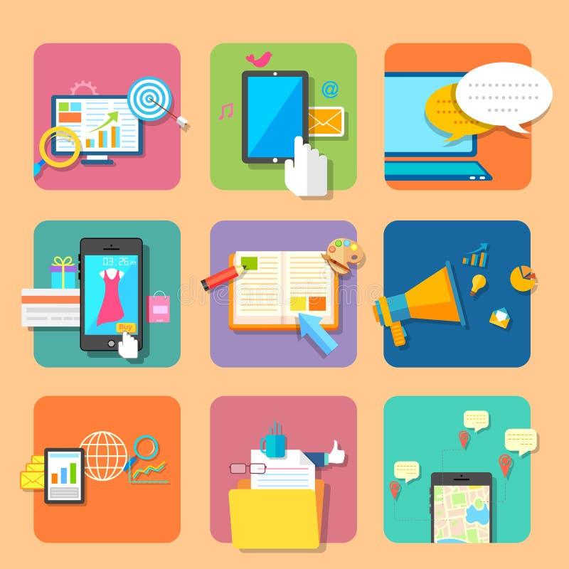 Application mobile illustration libre de droits