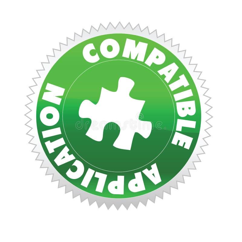 Application mobile compatible illustration stock