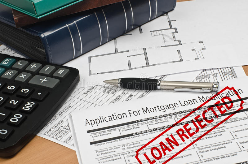 Application for mortgage loan modification stock image