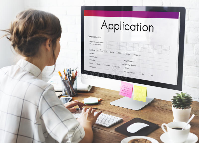 Application Online College Form Concept royalty free stock photography