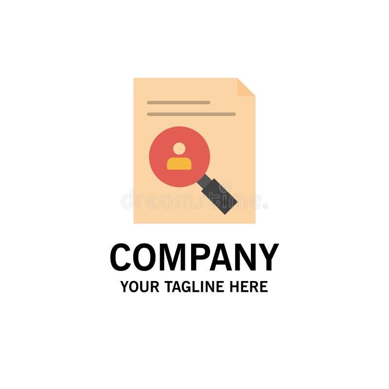 Application, presse-papiers, programme d'études, cv, résumé, affaires Logo Template de personnel couleur plate illustration stock