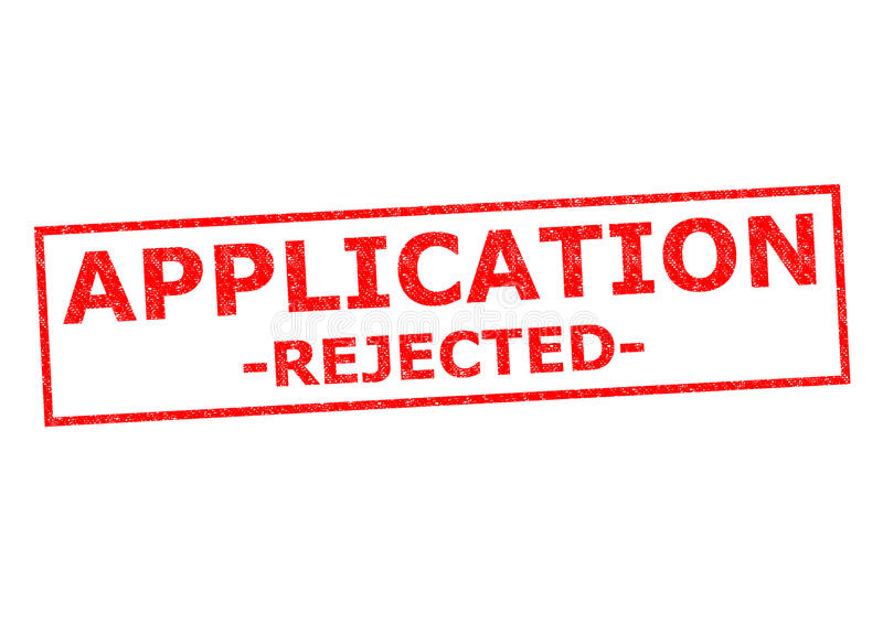 APPLICATION REJECTED royalty free stock photos