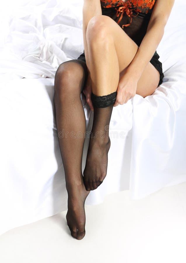 Download Application Black Stockings Stock Photos - Image: 35692473