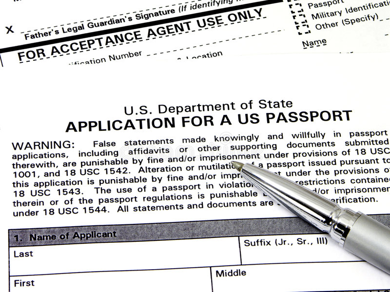 Download Application For A U.S. Passport Stock Photography - Image: 1213432