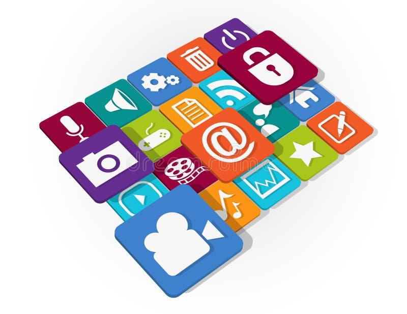 Application Web Icons design royalty free illustration