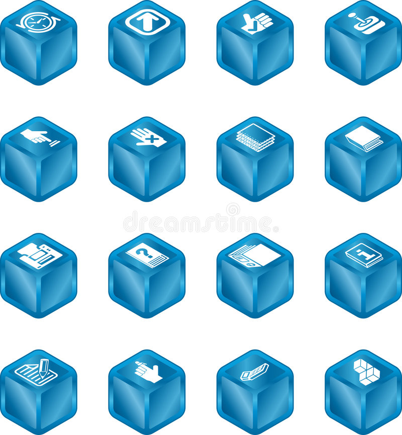 Applications Cube Icon Series royalty free illustration