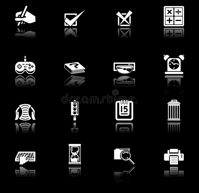 Applications icon series set vector illustration