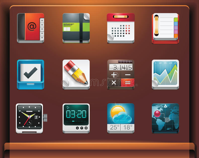 Applications icons. Mobile devices apps/services icons. Part 4 of 12