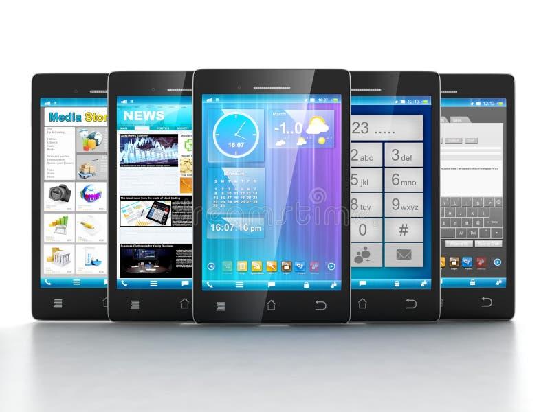 Applications mobiles. illustration stock