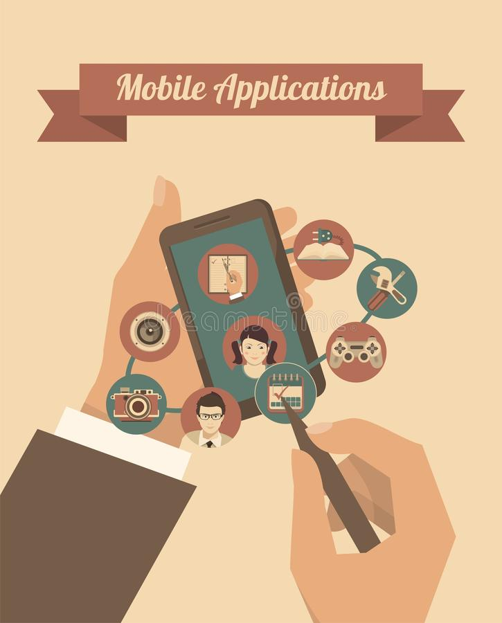 Applications mobiles illustration stock