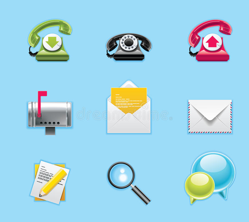 Applications and services icons stock illustration