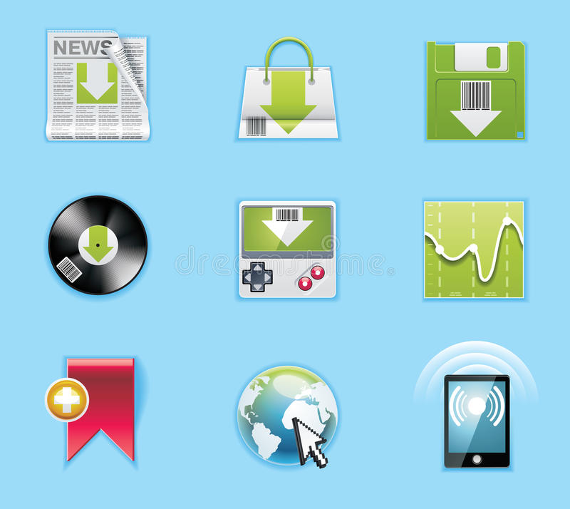 Applications and services icons vector illustration