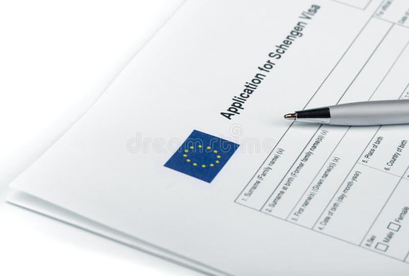 Applicatoin for Schengen Visa royalty free stock photography