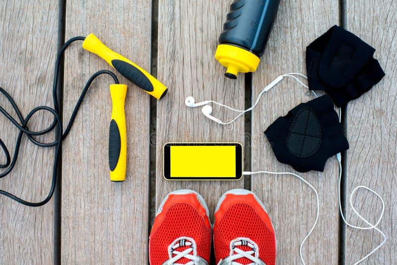 Applicazione del cellulare di sport fotografie stock