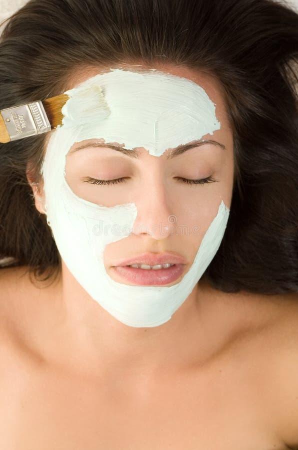 Applicazione della mascherina fotografie stock libere da diritti