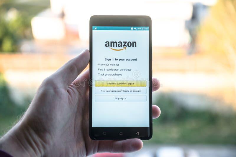 Applicazione di Amazon immagini stock libere da diritti