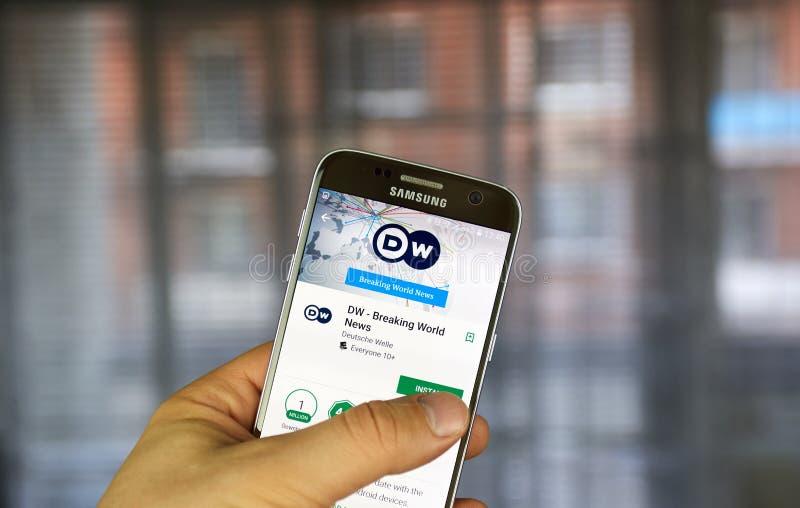 Applicazione di androide di Deutsche Welle immagini stock libere da diritti