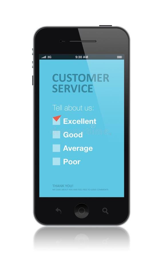 Applicazione di indagine di servizio di assistenza al cliente immagine stock
