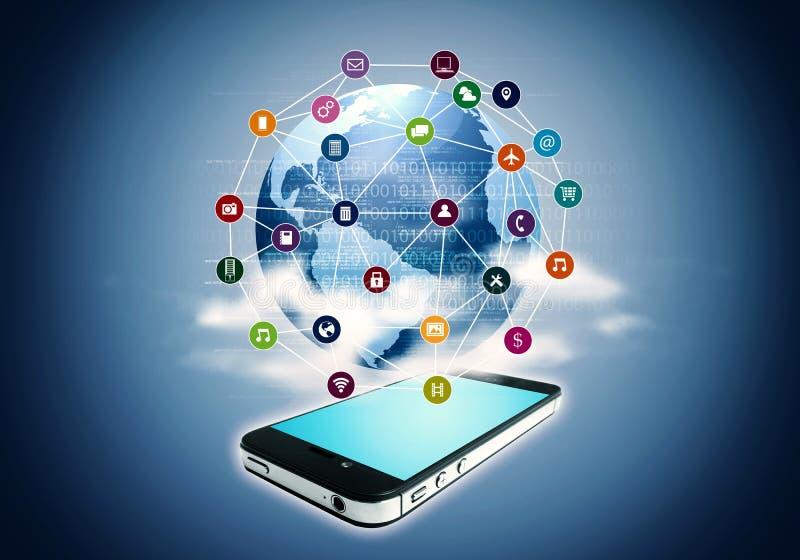 Applicazione di Internet dello Smart Phone immagini stock libere da diritti