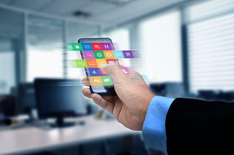 Applicazione di Internet sullo Smart Phone immagini stock